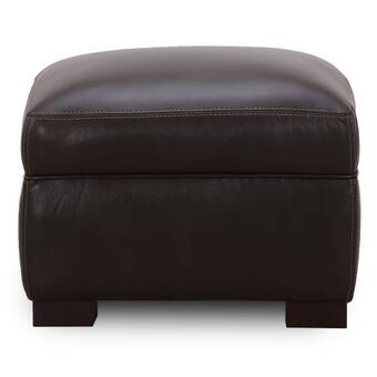 17 Stories Malkesh Leather Ottoman Wayfair