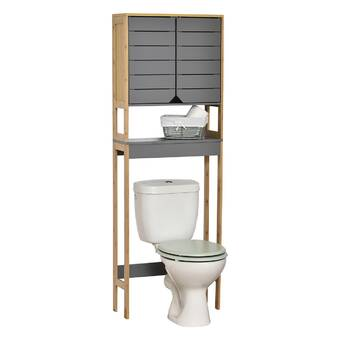 Bay Isle Home Mel 26 W X 65 H X 10 D Solid Wood Over The Toilet Storage Reviews Wayfair