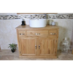 Francesca Solid Oak 1000mm Free-Standing Vanity Unit By Belfry Bathroom
