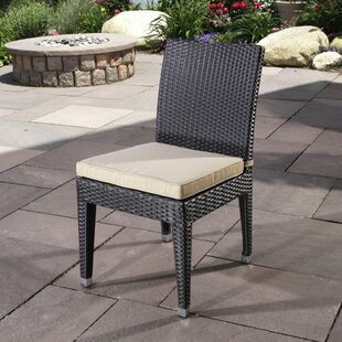 Cypress Stacking Patio Dining Chair with Cushion