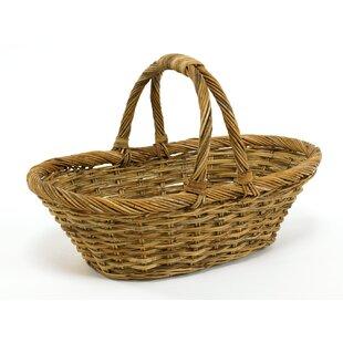 Cottage Daisy Rattan Basket