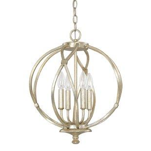 House of Hampton Cecil 4-Light Globe Chandelier