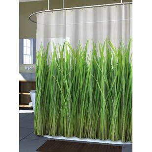 Royal Bath the Grass Is Always Greener Single Shower Curtain