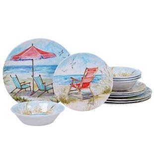Cavallaro 12 Piece Melamine Dinnerware Set, Service for 4