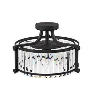 Bunton 3-Light Semi Flush Moun..