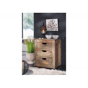 Nature 3 Drawer Filing Cabinet By Massivmoebel24