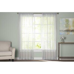 Wayfair Basics Solid Sheer Rod Pocket Curtain Panels (Set of 2)