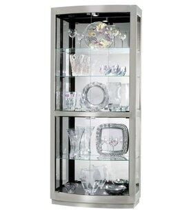 Latitude Run Bethzy Lighted Curio Cabinet