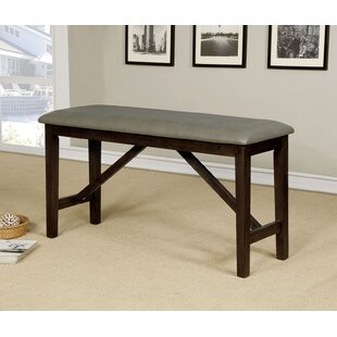 Floodwood Faux Leather Bench by Gracie Oaks