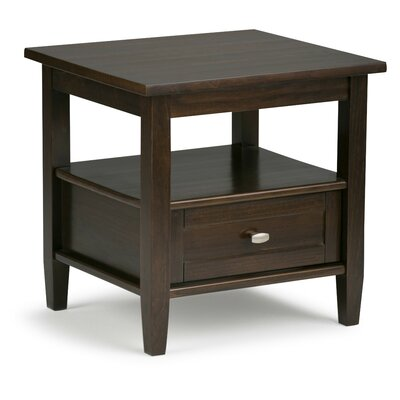 Alameda End Table with Storage Color: Tobacco Brown by Alcott Hill