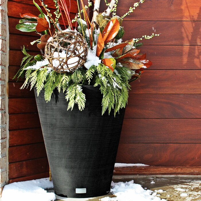 Pure Series Plastic Pot Planter (Black)