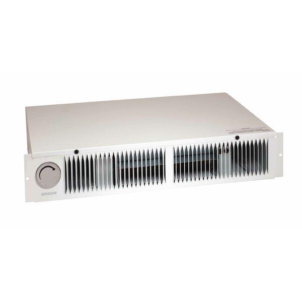 broan btu wall mounted electric fan baseboard heater with adjustable thermostat u0026 reviews wayfair - Baseboard Heat