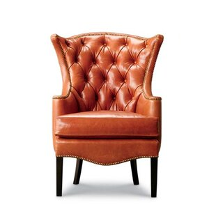 Kelly Tufted Wingback Chair by Leathercraft