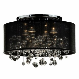 Thirza 4-Light Semi Flush Mount by Everly Quinn