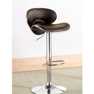 Izaiah Adjustable Height Swivel Bar Stool Orren Ellis