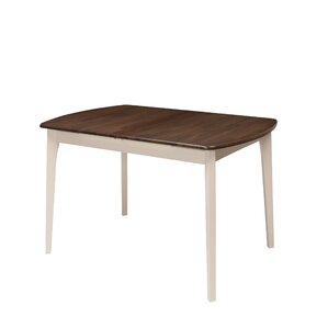 liggett extendable solid wood dining table