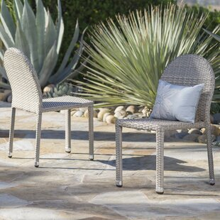 Wrought Studio Tiernan Outdoor Stacking Patio Dining Chair (Set of 2)