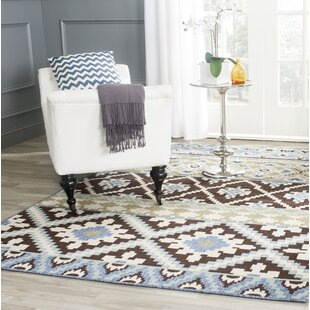 Rangely Chocolate/Blue Indoor/Outdoor Area Rug