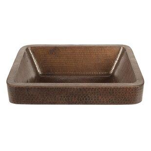 Reviews Metal Rectangular Vessel Bathroom Sink ByPremier Copper Products