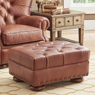 Miller Leather Cocktail Ottoman by Birch Lane™ Heritage