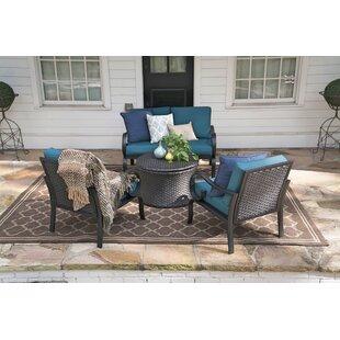 Crespo 4 Piece Sofa Set with Cushions