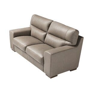 Cannes Leather 3 Seater Sofa By Ebern Designs