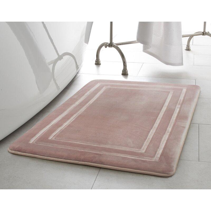 Border Embossed Memory Foam Bath Mat