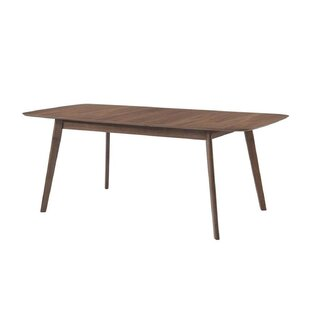Earls Extendable Solid Wood Dining Table Corrigan Studio