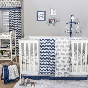 Eli Chevron 4 Piece Crib Bedding Set