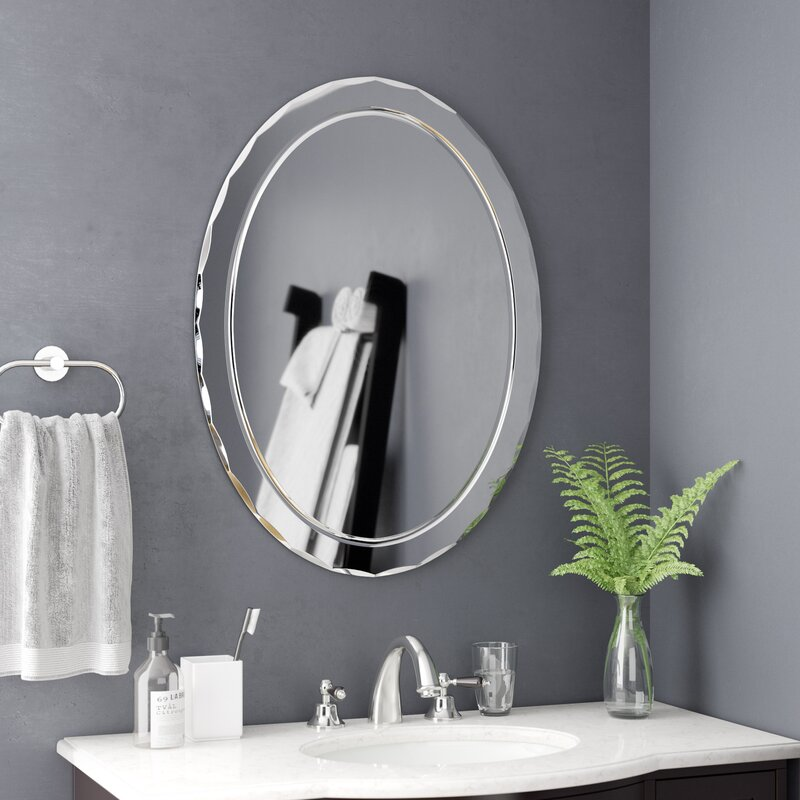Frameless Wall Mirror Amp Reviews Birch Lane