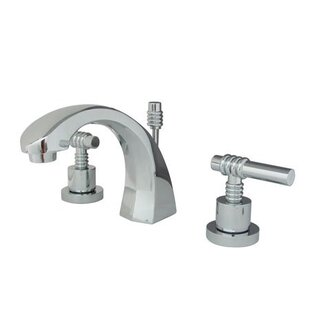 Elements of Design Milano Widespread Bathroom Faucet with Drain Assembly