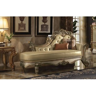 Astoria Grand Holte Wooden Chaise Lounge