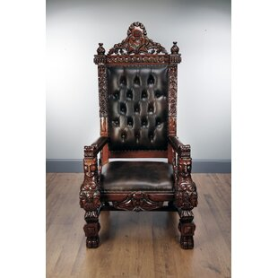 Marybeth Mahogany Throne Armchair by Asto..
