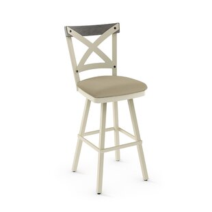 Karsten 30.5 Swivel Metal Frame Bar Stool