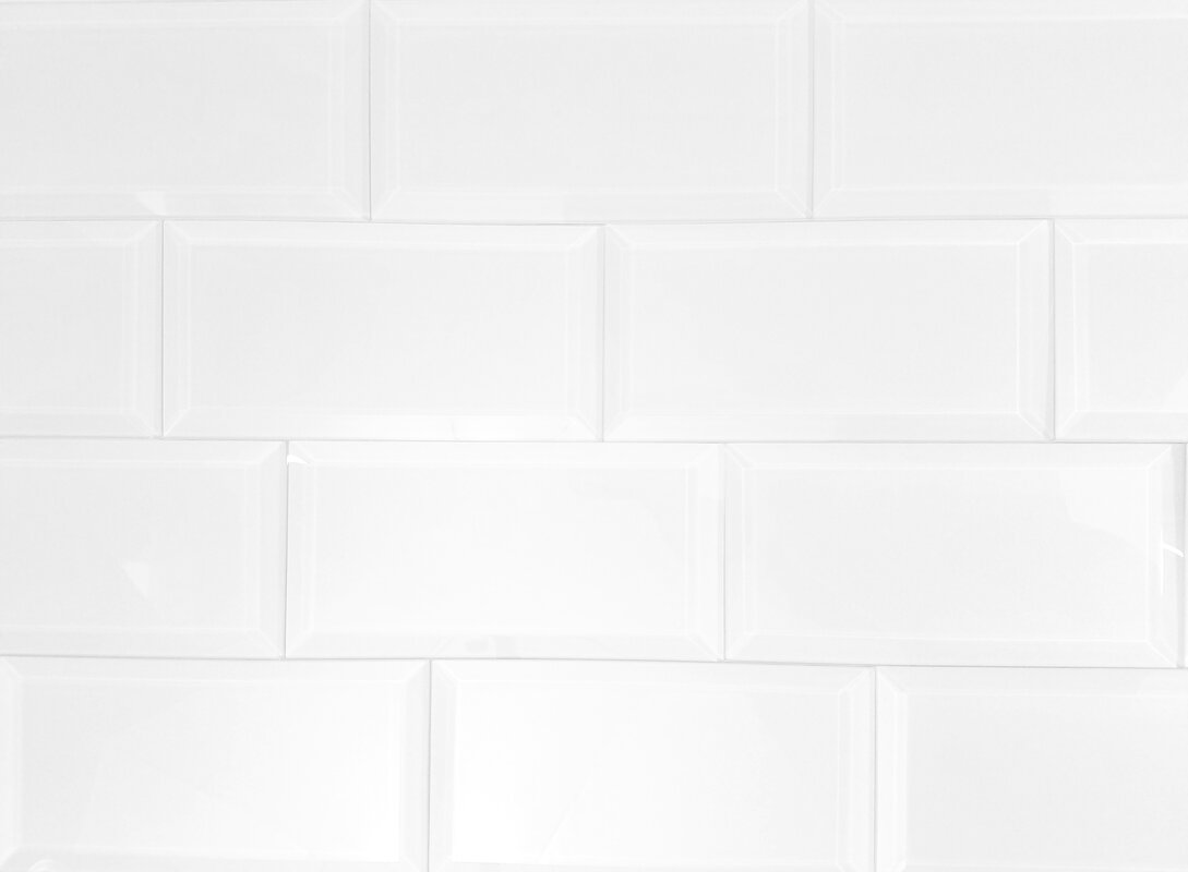 Abolos frosted elegance 3 x 6 glass subway tile in glossy white frosted elegance 3 x 6 glass subway tile in glossy white dailygadgetfo Choice Image
