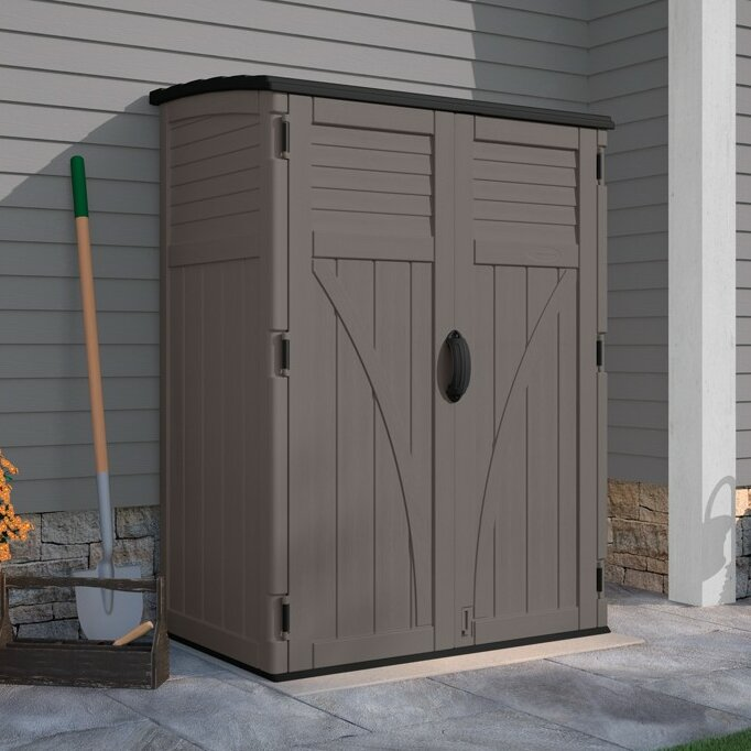 Garden Sheds 5 X 9 suncast 4 ft. 5 in. w x 2 ft. 9 in. d plastic vertical tool shed