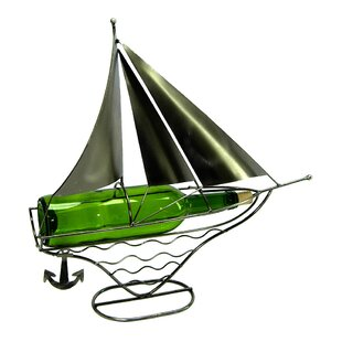 Sailboat 1 Bottle Tabletop Wine Rack by W..