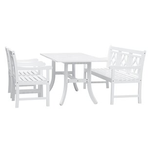 Mahler 4 Piece Patio Dining Set by Darby ..