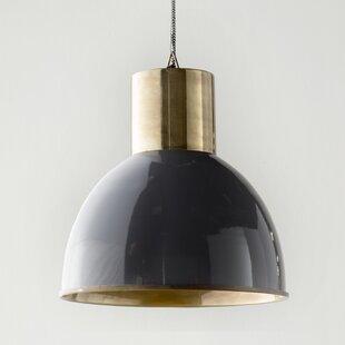 Arturo 1-Light Bell Pendant by 17 Stories