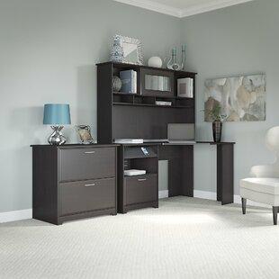 Red Barrel Studio Hillsdale Corner Executive Desk with Hutch & Lateral File