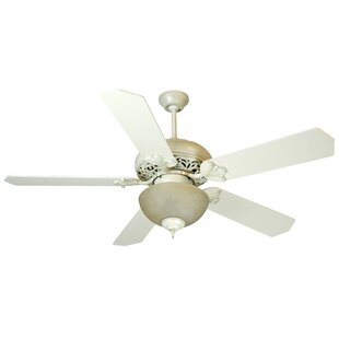 Bargain 52 Shawna 5 Blade Traditional Ceiling Fan By Fleur De Lis Living