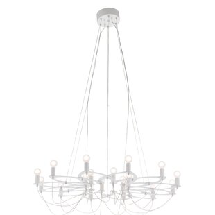 Tabris 18-Light Wagon Wheel Chandelier by Orren Ellis