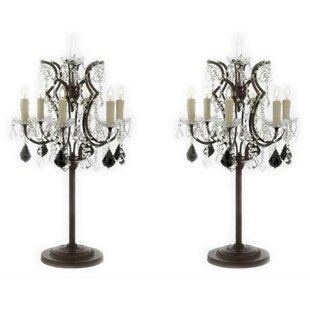 Abraham Rococo Crystal 35 Table Lamp (Set of 2)