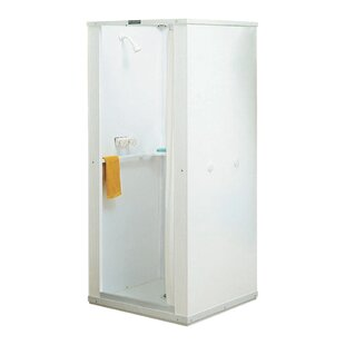E.L. Mustee & Son Durastall 30'' x 73'' Square Sliding Shower Enclosure with Base Included