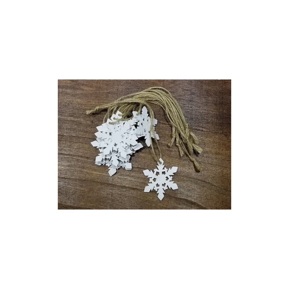 The Holiday Aisle Wooden Snowflake Hanging Figurine Wayfair