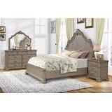 Adelinda Solid Wood Standard 4 Piece Bedroom Set by Ophelia & Co.