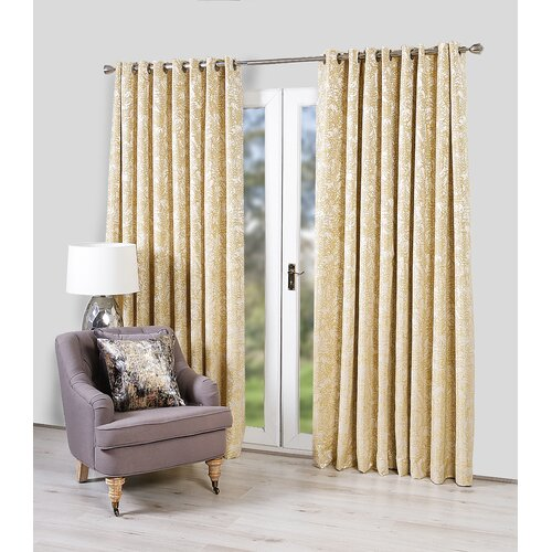 Iowa Eyelet Room Darkening Thermal Curtains Canora Grey Colo