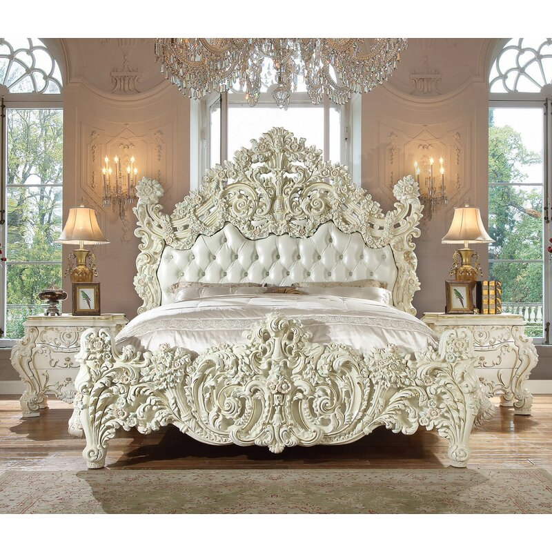 Major Q Traditional Victorian Style Luxurious Upholstered Standard Bed Wayfair