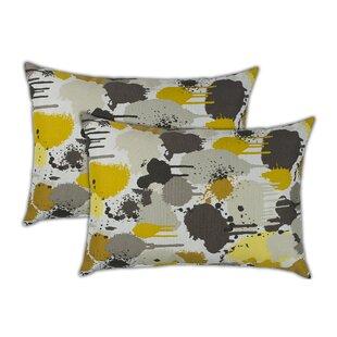 Paintdrip Boudoir Outdoor Lumbar Pillow (Set of 2)