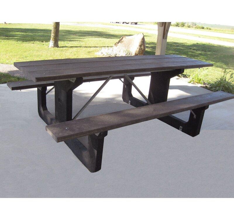 Freeport Park Simons Walk Thru Plastic Picnic Table Wayfair - Walk in picnic table